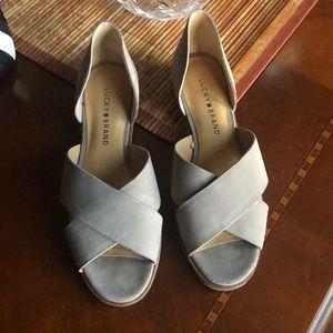 👠 LUCKY 🍀 BRAND sandals sz 7.5 🍀